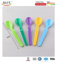 Chlidren plastic colorful ice cream spoon