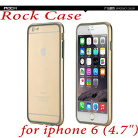 New arrival Rock Bumper case for iphone 6 High Quailty ultra-thin Fashion Bumper Case For iPhone6 4.7 inch