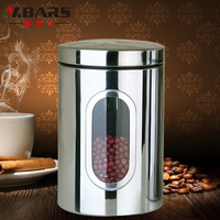 Stainless steel sealed cans dried fruit tea food large storage box transparent storage bottle