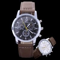 2015 Hot sale luxury brand leather watch fashion casual quartz watch men sports watches military hour clock relogio masculino