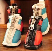 New Style Pet Dog Shoes Wholesale 4pcs/set Warm Winter Dog Shoes Pet Shoes Cat Shoes Free Shipping