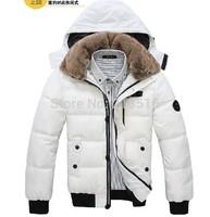 New 2014 Winter men down coat Men's coat Winter overcoat Outwear coat jacket hooded thick fur jackets outdoor Free shipping