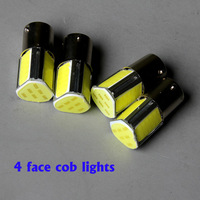 Free shipping cob 4 face car   turn brake signal  light 1156 1157  ba15s bulb