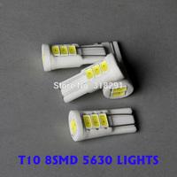 T10 5630smd 8 samsung led high bright Ceramic base Car LED Bulbs auto Interior Lighting good thermostability