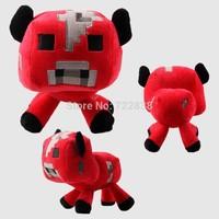 Free shipping Retail 1pcs 17cm Minecraft dolls stuffed plush Minecraft creeper coolie afraid of plush toys of my world
