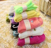 Winter Candy Women's Socks Thick Cute Sleep Bowknot Girl Sock 5 pairs/lot NFB010