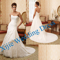 Factory Direct Sell Competitive Price Applique Bridal Dress Bridal Gown 2014 --- Ali-0095