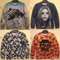 pizza/Lana Del Ray Rose print 3D sweater men hoodies autumn sweatshirt men's character pullover star love clothes wholesales