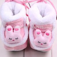 Free ShippingFashion Cartoon Rabbit Baby Shoes Toddler Unisex Soft Sole Skid-proof Kids girl infant Shoe First Walkers,prewalker