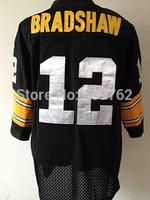 Pittsburgh 12 Terry Bradshaw throwback jersey Joe Greene jersey franco harris jersey football Retired Player Vintage Jersey