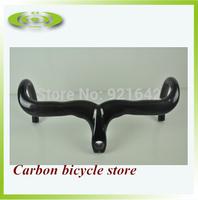Carbon fiber road bicycle cycling handlebar carbon bike parts drop handle bars and Stem integrative 400/420/440mm