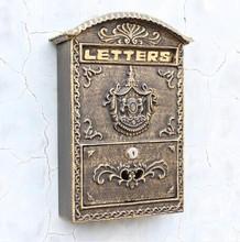 Чугун сообщения почтовый ящик тиснением отделка декор уолл-металл воздушной почтой письма коробка