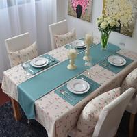 (30*160,30*180cm,30*200cm,30x220cm)New woven 100% cotton Light Blue Table Runner/Flag Home Decoration Hotel Series Customize