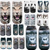 3D Print Animal men's Socks Casual Cute Charactor Socks Unisex Low Cut Ankle Socks Multiple Colors Harajuku Style