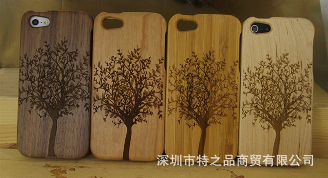 For apple iphone 5 woodcase phone case fragrance 5 bamboo sculpture protective case 5s plants and animals wool(China (Mainland))