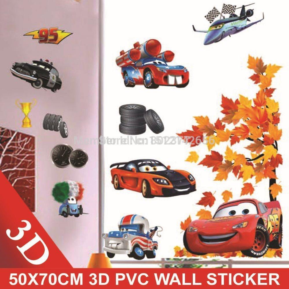 ALL FREE SHIPPING! 50X70CM 50PCS/LOT cars WALL STICKER 3D wall stickers / DIY layers stickers /room sticker(China (Mainland))