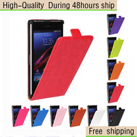 Crazy Horse Texture Vertical Flip Leather Case for Sony Xperia Z1 L39h Free Shipping