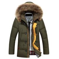 Warm Down Jacket Winter Jacket Men Coat 90% White Duck Long Thicken Outwear Hooded Men's Parka Big Size 3XL