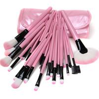 High Quality Beautiful 32pcs Cosmetic Makeup Makeup Brush Set with Free Bag (Pink)