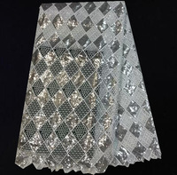 (5yards / lot) TXL37-6! Gray good quality free shipping stylish and contemporary African style lace wedding dress fabric!