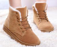 2014 Winter Thicken High Top Boots Women snow boots wedge metal buckle ladies mid calf snow shoes woman botas de neve WSH129
