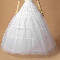 2014 Hot Sale 3 Hoop Ball Gown Bone Full Crinoline Petticoats For Wedding Dress Wedding Skirt Accessories Slip In Stock