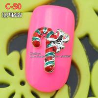 c-50 new christmas 30pcs 3D Shiny Crystal Rhinestone Alloy Design Nail Art Glitters Decoration free shipping