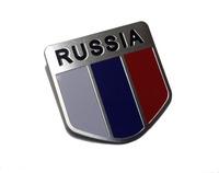 1pcs * 3D Russia Russian Flag  Emblems Badge Sticker Decal for Car SUV  Metal  2PCS(1SET)