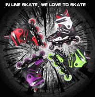 WeiQiu 5166 Adult Inline Skates Professinal Roller Skates Shoes Good Quality Slalom/Braking/FSK Rollerblade Patins Ball