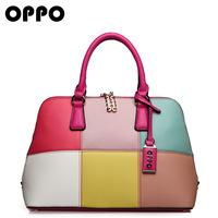 OPPO bag female bag European fashion mosaic multicolor handbag slung seashell for 2014 the new factory outlet
