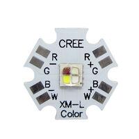 5PCS CREE XML XM-L RGB+Cool White 12W High Power LED Light Lamp Emitter 20mm PCB