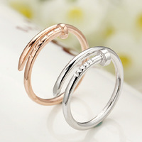 2014 Men Women Couples personality style rings, 925 sterling silver ring screw nails Korean Fashion, celebrities with money ring