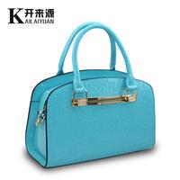 Free Shipping 3 Colors  Women Fashion Solid Zipper Knurling PU Messenger Bags Handbags Thin Single-Should Bag