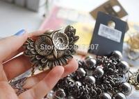 Wholesale 30pcs/lot Cinnamon Vintage Owl Pendant Necklace Fashion Jewelry