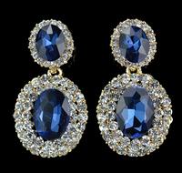 Accessories Drop Earrings Luxury Cubic Zirconia Crystal Fashion Jewelry Wedding Gold Plated Long Earrings For Women 2014