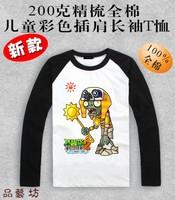 Children's clothes Plants vs . zoombies 2  long-sleeve t-shirt 100% cotton Plants vs zombies T-shirt