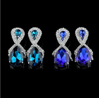 earrings famous brand 2014 innovative items luxury statement dangle party earring Gold plated anti-allergic
