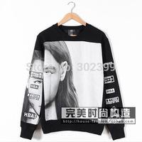 New 2015 hba fashion head portrait lovers plus velvet sweatshirt pullover outerwear  free shipping