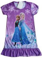 Hot Frozen Dress Summer Elsa & Anna Print Dress For Girl 2014 New Princess Dresses Brand Girls Dress Children Clothing