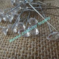Plastic diamond head stick pins for hijab
