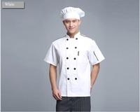 FREE SHIPPING fashion design Short Chef coat Hotel Cooking Jacket Service Uniform