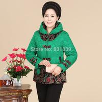 2014 winner coat  mother thick velvet   lattice jacket hight qulity for cotton padded jacket plus size size  free shipping