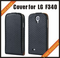 Free shipping --New high quality more colours leather case mobile phone cellphone for more colour LG F340