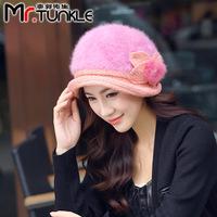 DG1502 Guo hat manufacturers new winter Korean Ladies painter MS hat rabbit hair fashion hat cap