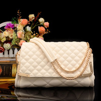 New arriving 2014 spring and summer chain dimond women's plaid handbag shell sewing thread star tassel messenger bag dinner