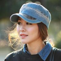 Ladies denim hat topped hat Dongguo mall DG1055