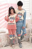 Pajama Sets pajamas for lovers cotton couple's sleepwear Women and men's cartoon pajamas Lover's pajamas set