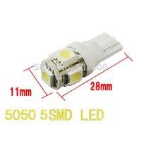 4psc/lot T10 LED 5 SMD 5050 Bulbs Side Light 194 168 W5W 12V LED Wedge Lamp Car LED light Clearance Light
