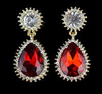 Luxury Excellent Cut Cubic Zircon Drop Earrings CZ Crystal Earrings Bridal Wedding Jewelry For Women