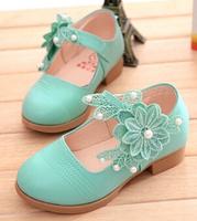 Retail 1pair Children cartoon brand sports shoes Flowers Lace kids' shoes children shoes 26 27 28 29 30